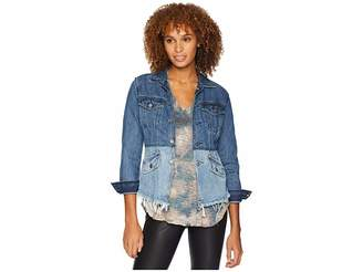 Lucky Brand Remade Waisted Trucker Jacket