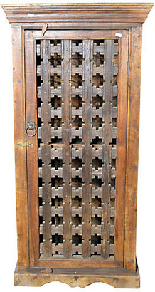 One Kings Lane Vintage Antique Indian Hand-Carved Cabinet - FEA Home