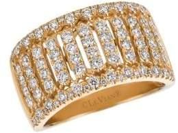 LeVian Vanilla Diamond and 14K Honey Gold Ring, 1.06 TCW
