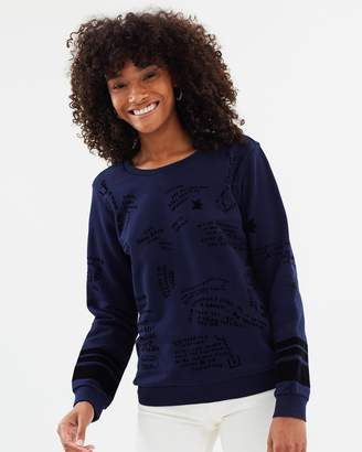 Maison Scotch Relaxed Fit Flocked Sweatshirt