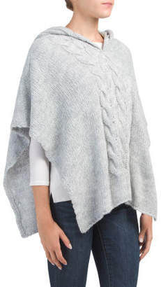 Made In Italy Poncho With Hood