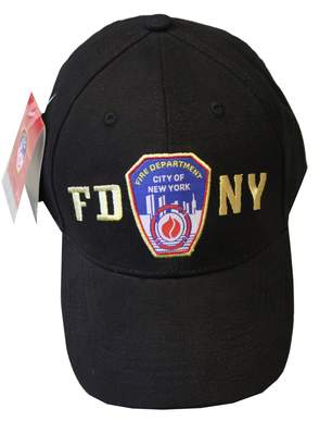 Factory NYC FDNY Baseball Hat Police Badge Fire Department Of New York City & Gold ...
