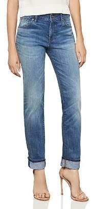 BCBGMAXAZRIA Straight-Leg Boyfriend Jeans in Medium Wash