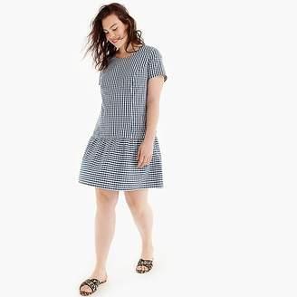 J.Crew Universal Standard for poplin drop-waist dress in gingham