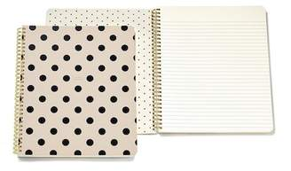 Kate Spade Spiral Notebook (Large) - Black/Deco Dots (So Well Composed)