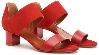 Aquatalia Nala Waterproof Leather & Suede Sandal