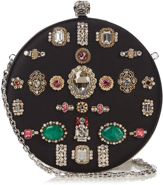 ALEXANDER MCQUEEN Crystal-embellished satin box clutch $2,257 thestylecure.com