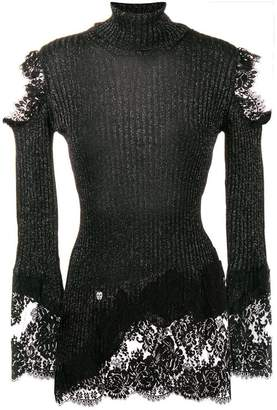 Philipp Plein lace knitted sweater