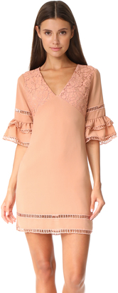 endless rose Ruffled Sleeve Dress with Trim Detail $112 thestylecure.com