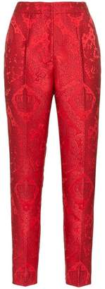 Dolce & Gabbana tapered jacquard trousers