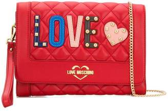 Love Moschino Love quilted appliqué crossbody