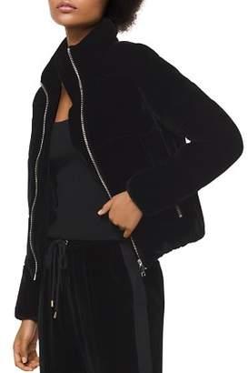 MICHAEL Michael Kors MICHAEL Velvet Puffer Jacket
