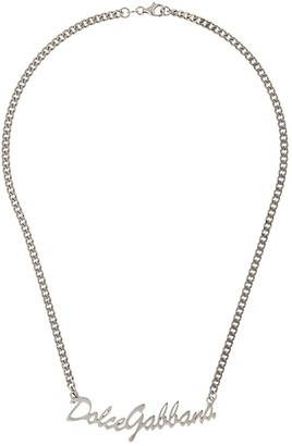 Dolce & Gabbana logo chain necklace