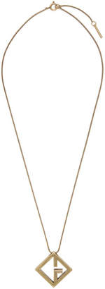 Givenchy Gold Geometric G Pendant Necklace