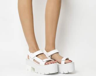 Jeffrey Campbell Mayovista Sandals White Leather