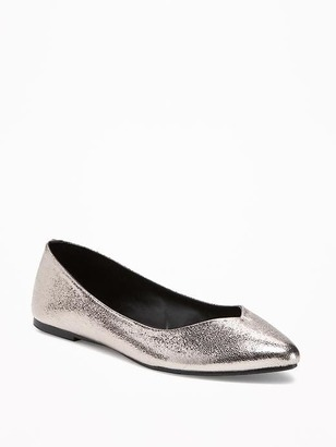 Sueded Pointy Ballet Flats for Women $22 thestylecure.com