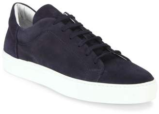 To Boot Houston Tumbled Leather and Suede Sneakers