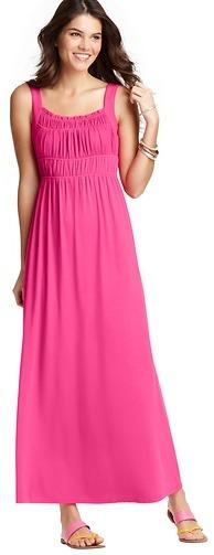 LOFT Ruched Bodice Maxi Dress