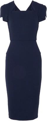 Roland Mouret Wool-crepe Midi Dress