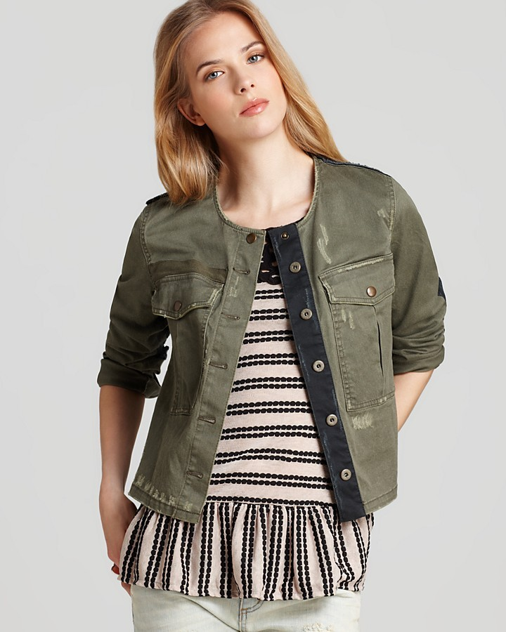 Free People Jacket - Lou Cropped Military