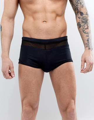 Trunks ASOS DESIGN Swim With Mesh Insert In Black