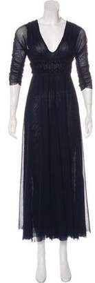 Jean Paul Gaultier Mesh Maxi Dress