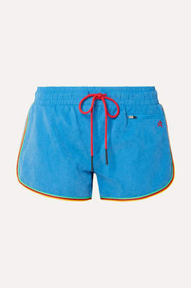Perfect Moment Rainbow Brushed-shell Shorts - Light blue