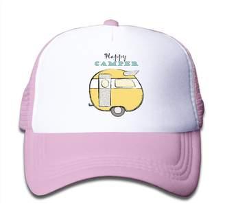 Camper Ilmum Kids Happy Trucker Mesh Baseball Cap Hat Trucker Hats