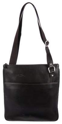 Salvatore Ferragamo Leather Zip Messenger Bag