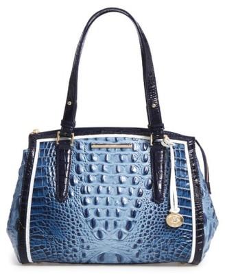 Brahmin Small Alice Leather Satchel - Blue $325 thestylecure.com