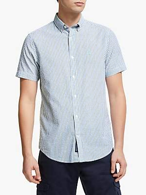 c0a5e1829 Gant Tech Prep Seersucker Stripe Short Sleeve Shirt, Blue