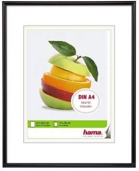 Hama Sevilla Black Plastic Frame. To Fit A 15X20Cm Photo