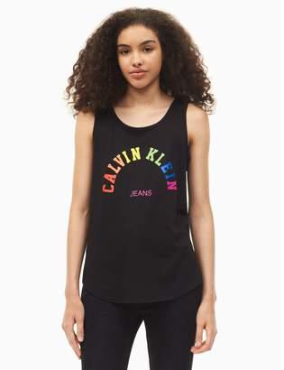 Calvin Klein pride rainbow ckj logo tank top