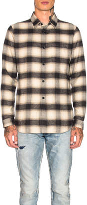 John Elliott Brushed Flannel Button Up