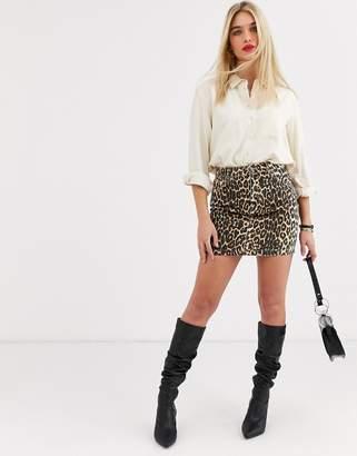 Vero Moda leopard print mini skirt