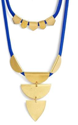 SANDY HYUN Double Layer Pendant Necklace