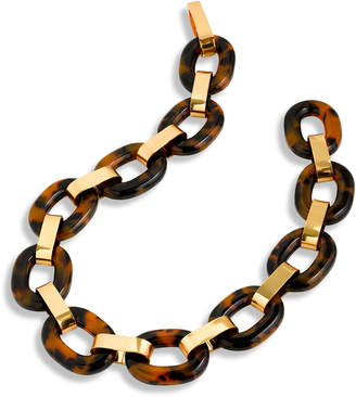 J.Crew Lucite® Tortoiseshell Chain Link Necklace
