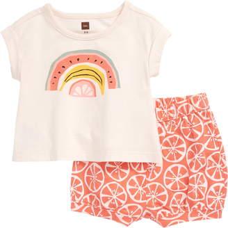Tea Collection Rainbow Fruit T-Shirt & Shorts Set