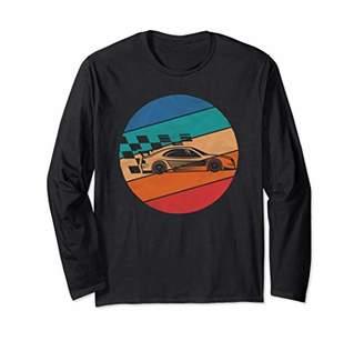 Car Racing Shirt Vintage Retro Sports Design Gift Long Sleeve T-Shirt
