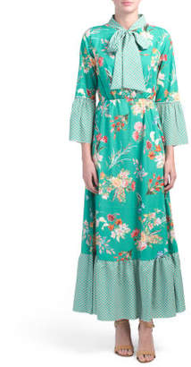 Made In Italy Printed Maxi Dress