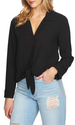 1 STATE 1.STATE Long-Sleeve Tie-Front Blouse