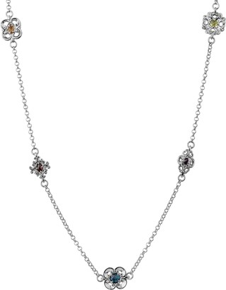 Carolyn Pollack Sterling Harmony Gemstone Station Necklace