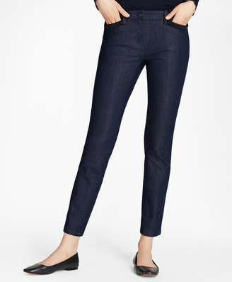 Brooks Brothers Soutache-Trimmed Denim Pants