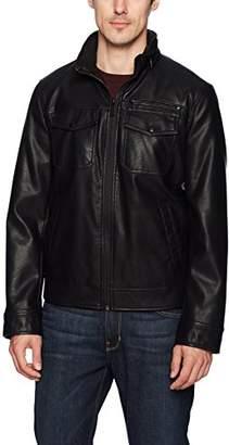 Dockers Faux Leather Classic Trucker Jacket