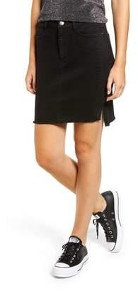 Tinsel Tuxedo Stripe Denim Skirt