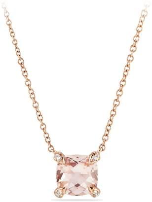 David Yurman Chatelaine(R) 18k Rose Gold Pendant Necklace with Diamonds