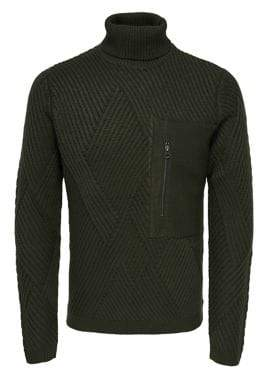 ONLY & SONS Cable-Knit Turtleneck Sweater