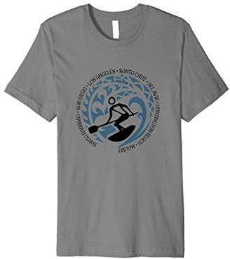 T Shirt For California Paddle Surfing Lovers Beach Surf Fans