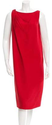 Valentino Draped Sheath Dress w/ Tags Red Draped Sheath Dress w/ Tags