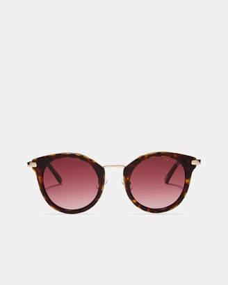 Ted Baker ROSOR Rounded tortoiseshell sunglasses
